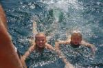 Første badet etter Bermuda i dansk farvann