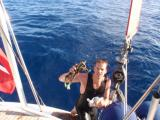 Dag dykket etter tau i propellen