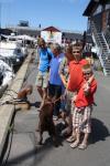 Familien Furøy hilser på oss