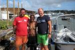 Sten og Bent brukte ein dag på å bli med på dykkesafari. Dyktig guide.
